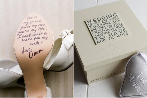 Wedding Gift Idea Note On Shoe