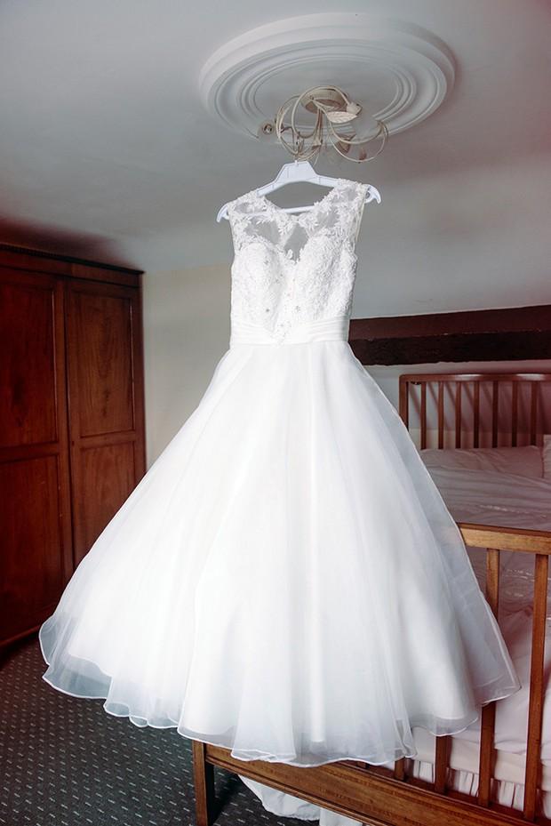lace tea length dress tom flowers