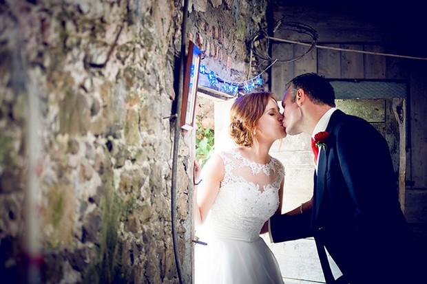 barn wedding outdoors