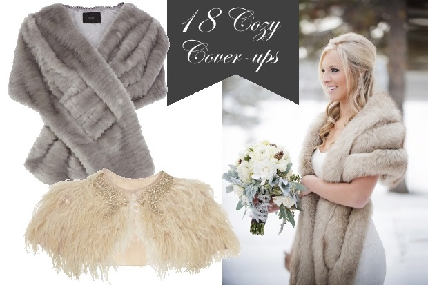 Cosy Cover Ups For Trendy Autumn Winter Weddings