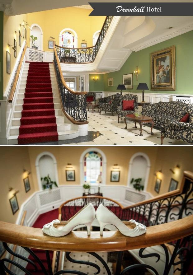 dromhall-hotel-wedding-staircase-photo
