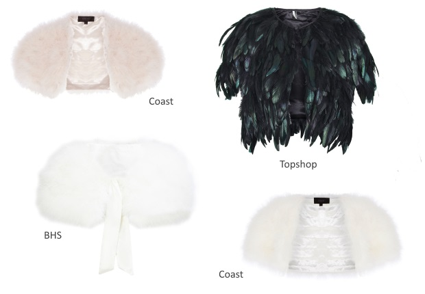 Faux Fur Stole Wedding Dress Cover Up
