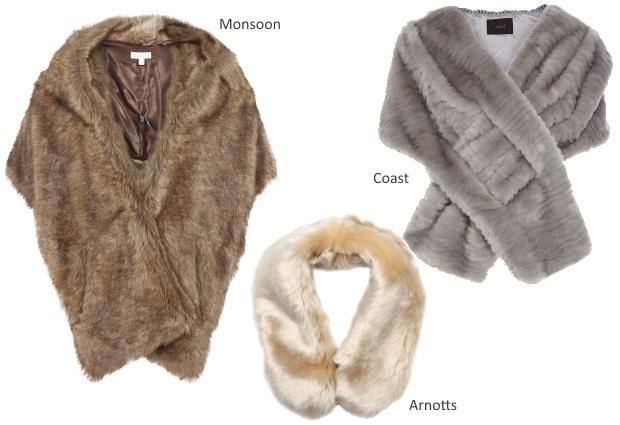 Full Faux Fur Wedding Cover Ups Winter