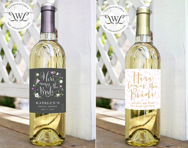 Personalised Hen Party Wine Labels
