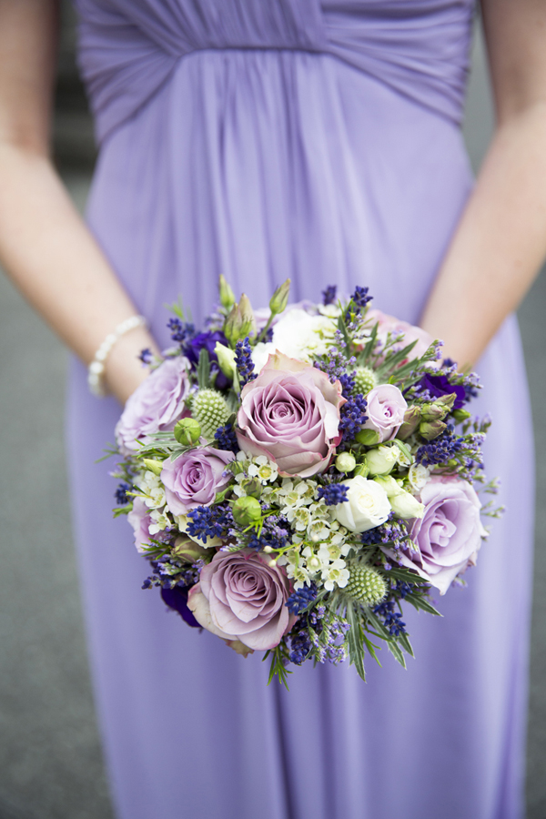 lilac purple bridesmaid wedding bouquet