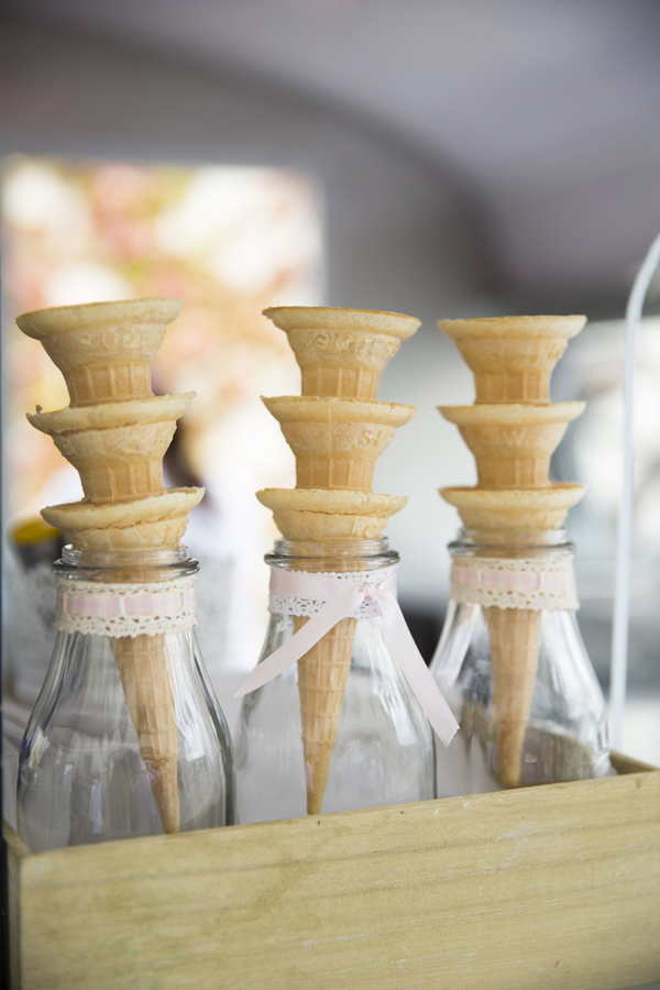 lace covered ice cream cones