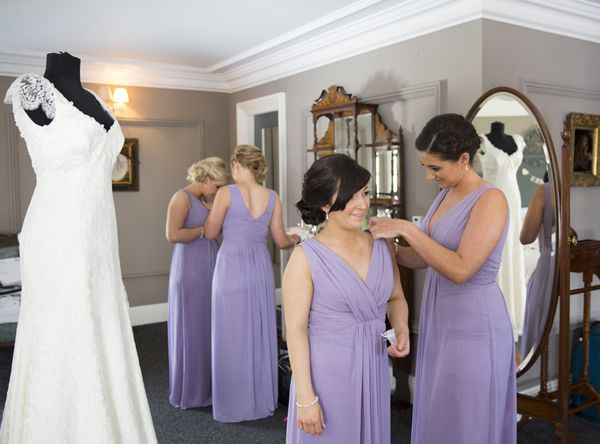bridesmaids in lilac dessy bridesmaid dresses