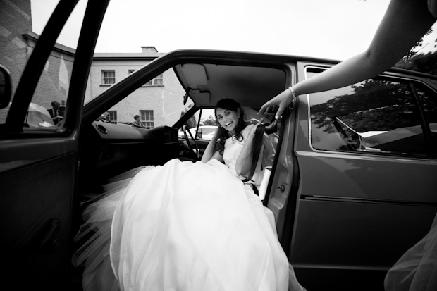 aileen-barry-wedding-getaway-car