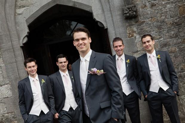 handsome groom and groomsmen