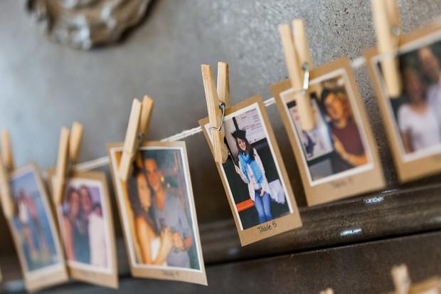 poloroid photo table plan wedding