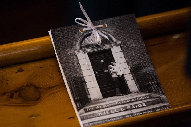 personalised wedding mass booklet photo