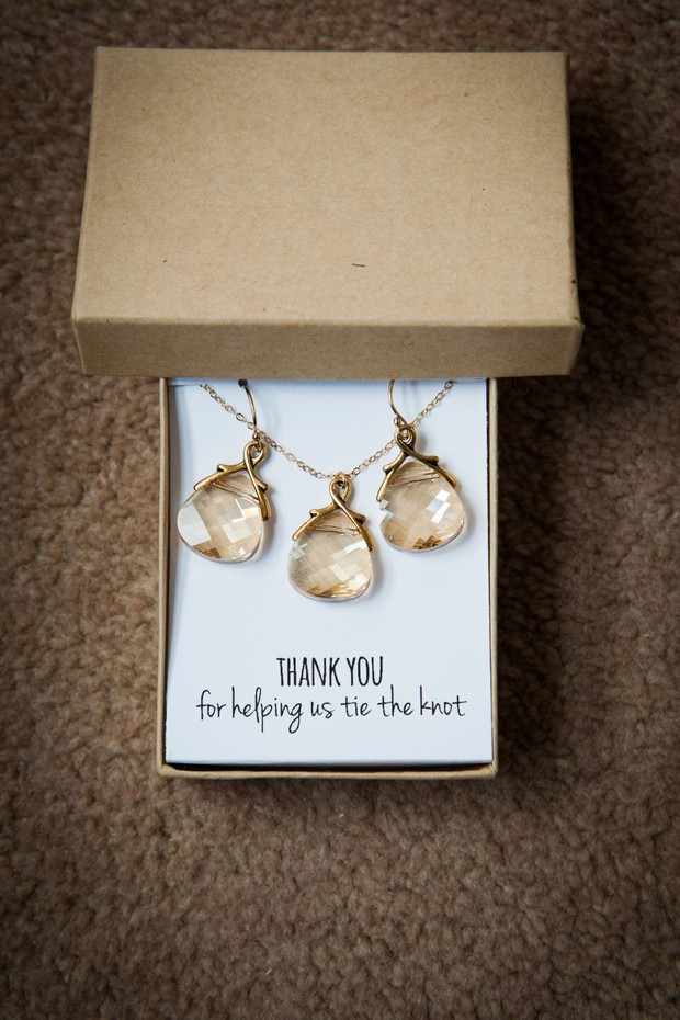 bridesmaid thank you gift jewellery necklace
