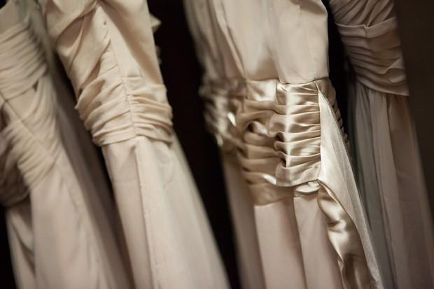 silk champagne bridesmaid dresses