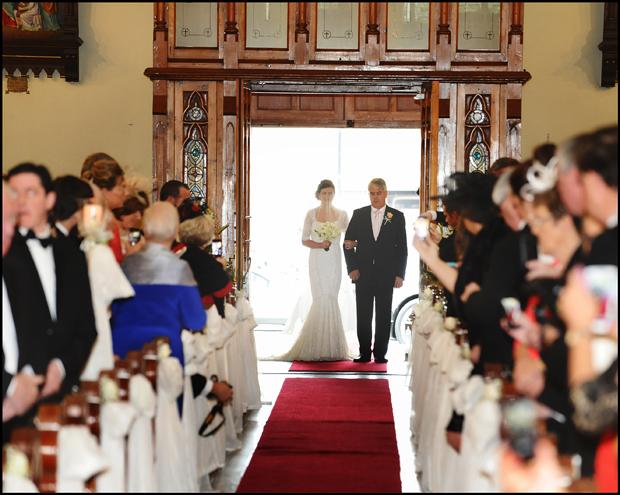 bride-entrance-real-wedding-trim-castle