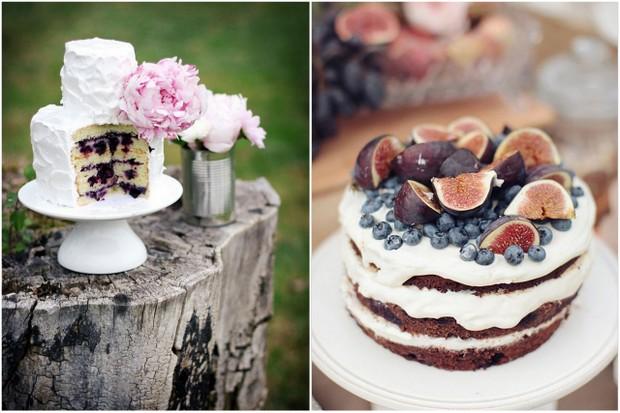 Rustic Blue Berry Wedding Cake