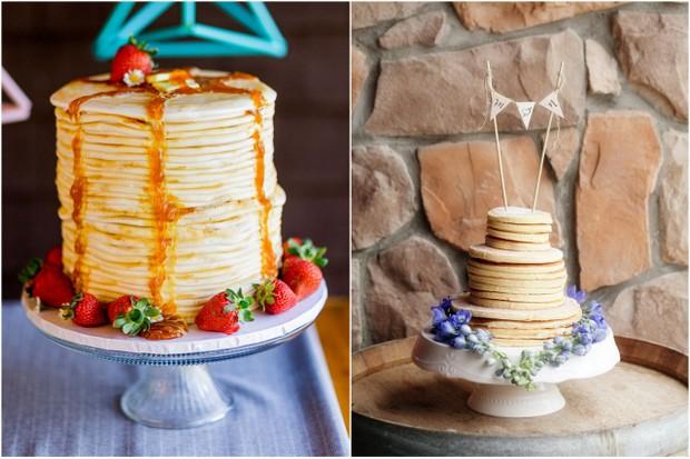 pancake stack wedding cake  trends 2015