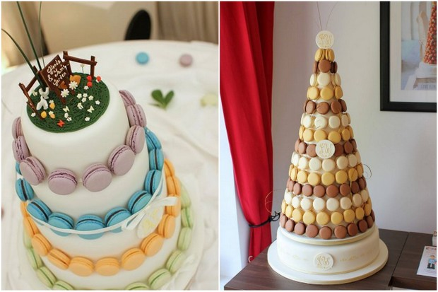 macaron wedding cakes tower