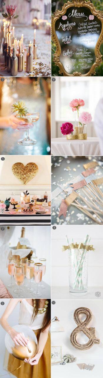 Wedding Decor - 10 Gorgeous Gold DIY Ideas | weddingsonline