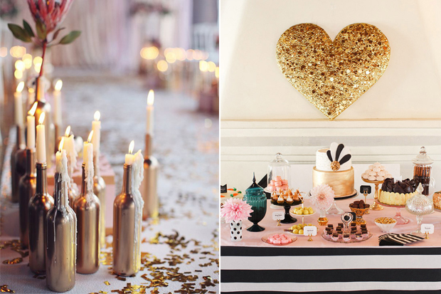 Wedding Decor - 10 Gorgeous Gold DIY Ideas | weddingsonline