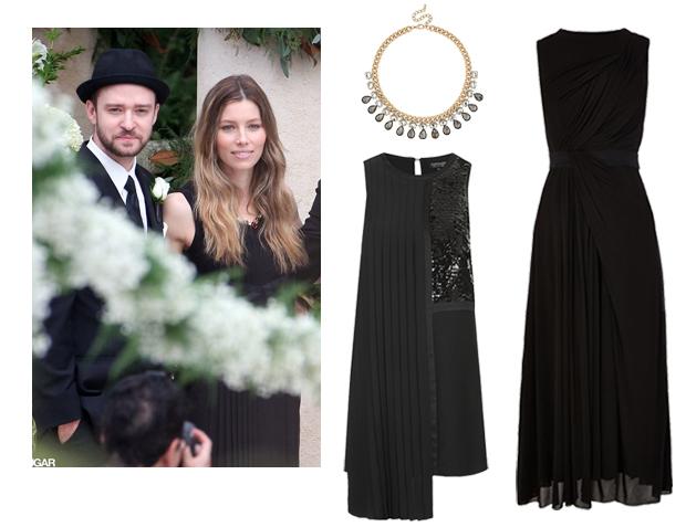 Black Celebrity Wedding Guest Dresses