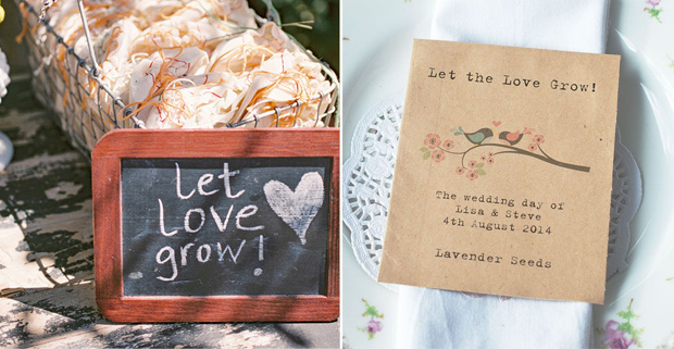 Let Love Grow Seeds Wedding Favour