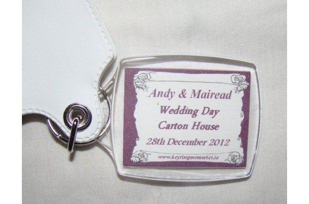 Personalised Photo Keyrings Wedding Favours