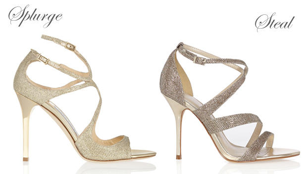 Sparkly Wedding Shoes Gold