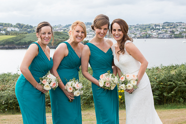 tara-john-wedding-bride-bridesmaids-green-dresses