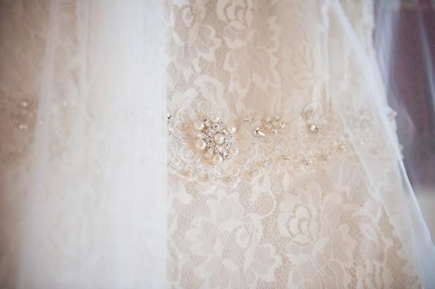 pearl wedding dress details belts