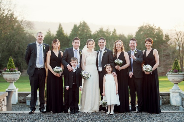 classic winter wedding style party