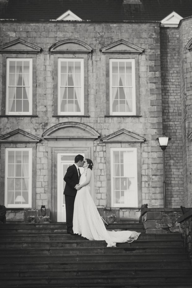 castle wedding ireland bride groom portrait