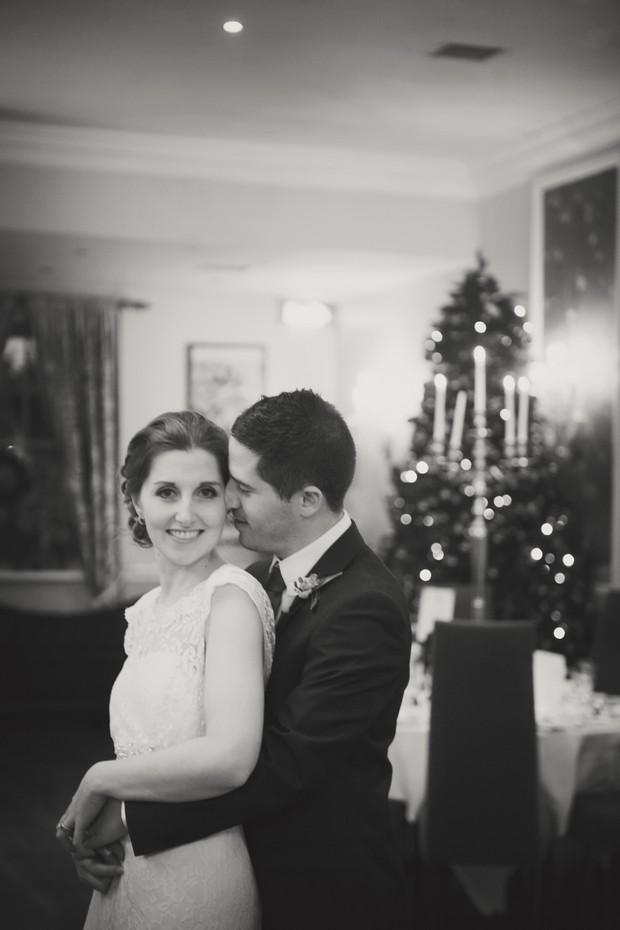 christmas tree wedding portrait