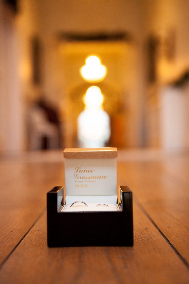 wedding ring box gold lance grossman