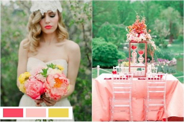 coral-peach-custard-wedding-colours-2015