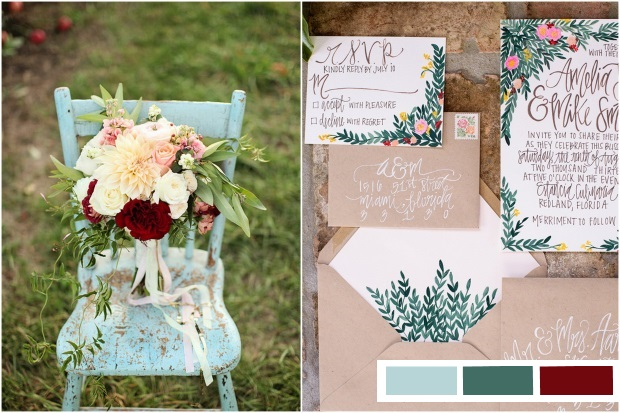 maroon-forest-green-light-blue-wedding-colours-2015