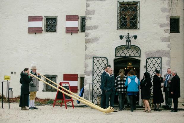 traditional austrian castle wedding