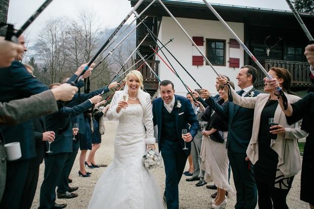 skiing themed wedding ideas