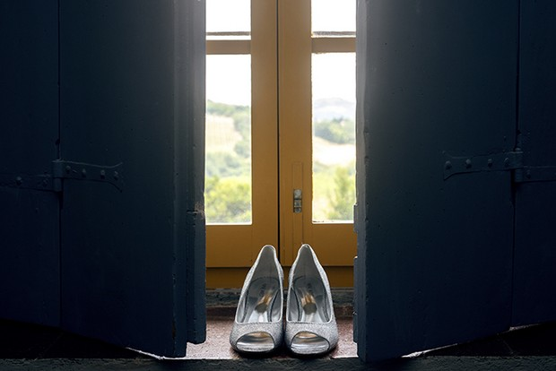 midi silver peep toe wedding shoes