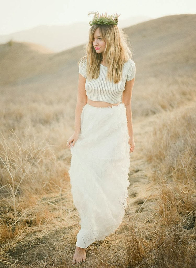 Top of the crops crop top wedding dresses 2015 for Best boho wedding dresses