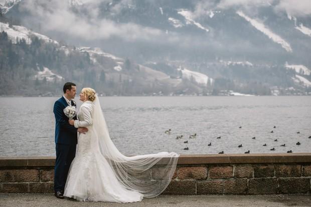real wedding skiing theme austria