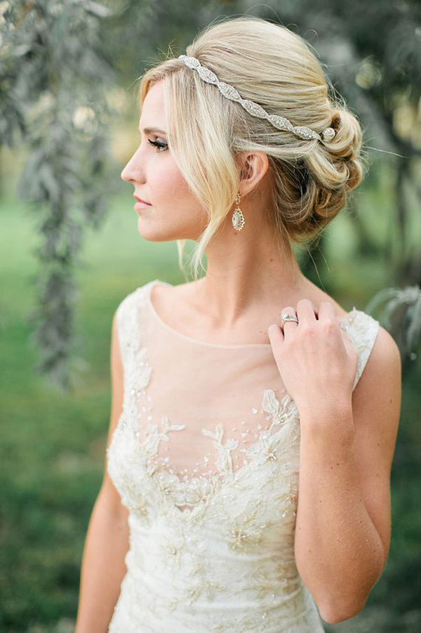 bridal-updo-glitzy-hairband