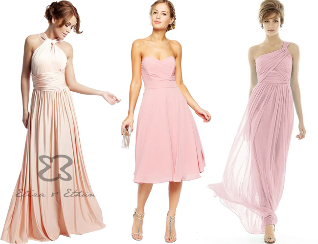 Pretty in Pink - 22 Beautiful Blush Bridesmaid Dresses | weddingsonline
