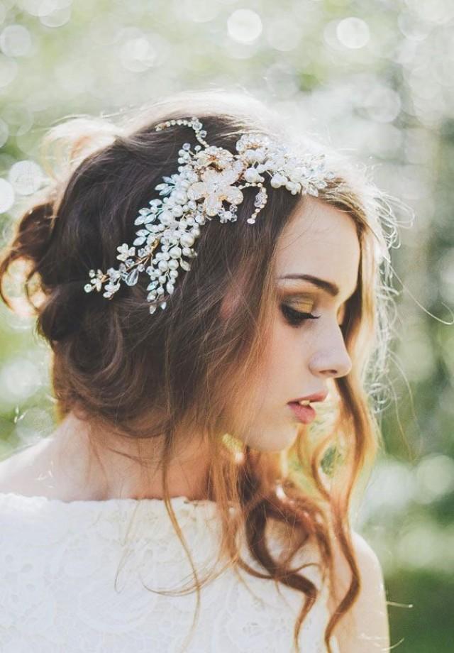 rhinestone sparkle side hair band wedding accessorie bridelaboheme