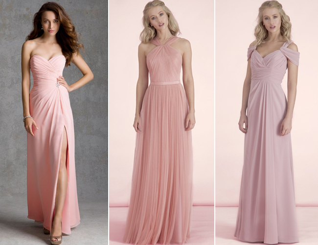 Rose Pink Dresses Bridesmaids