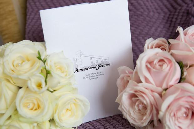 purple pink classic wedding mass booklet