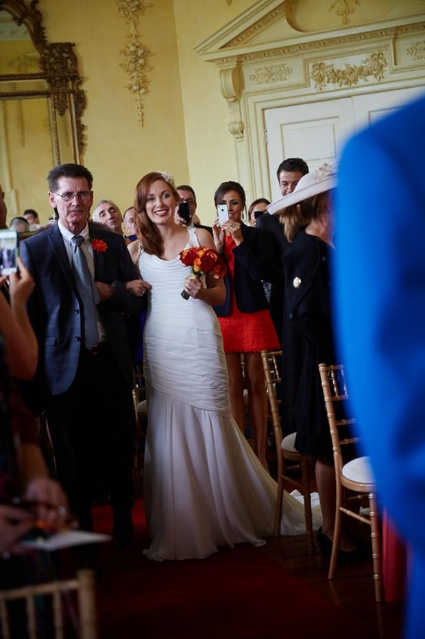 Civil wedding ceremony at Luttrellstown Castle