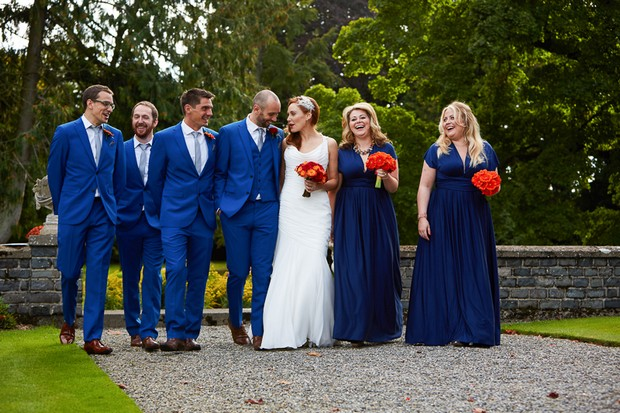 Eliza Ethan Multiwrap Bridesmaids Dresses in Midnight Blue
