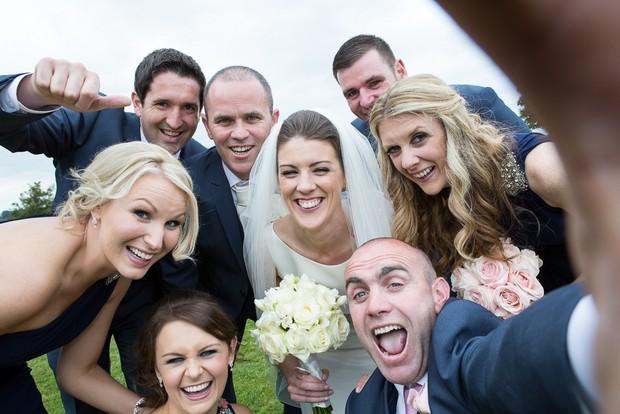 bridal party selfie Ireland