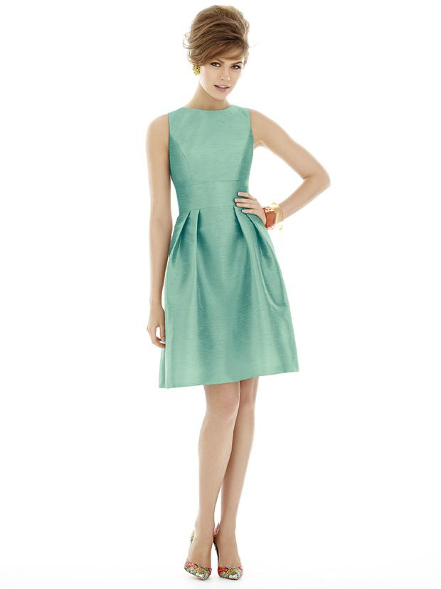 alfred-sung-mint-bridesmaid-dress