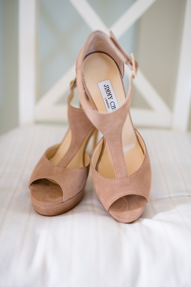 Wonderful Blush Shade Suede Wedding Shoes Jimmy Choo